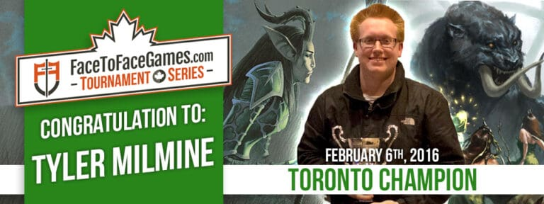 Tyler Milmine Wins the Face to Face Games Toronto Open!