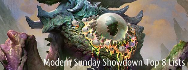 Modern Sunday Showdown Top 8 Lists