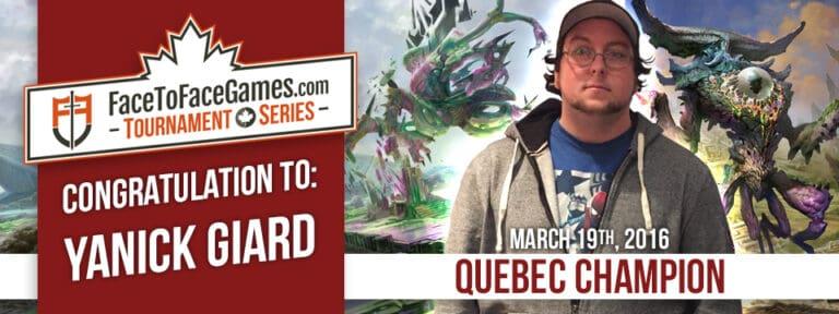 Yanick Giard Wins Quebec City Open!