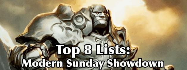 Modern Sunday Showdown – Top 8 Results