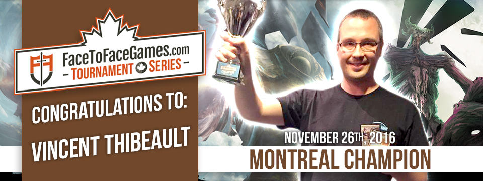 Vincent Thibeault Wins F2F Montreal Open with Eldrazi Tron!