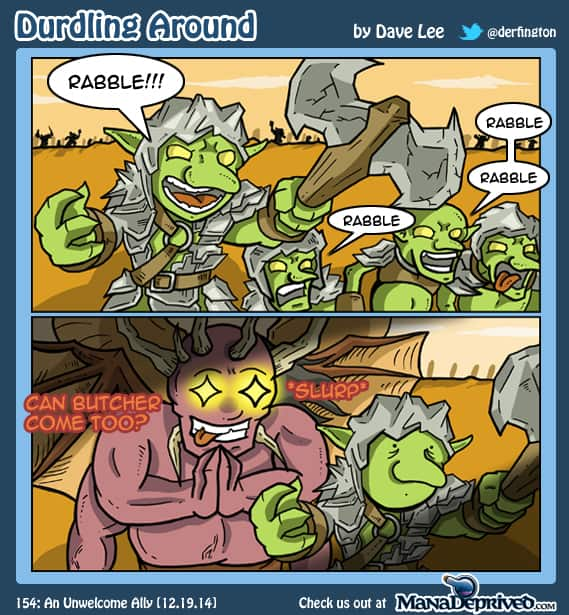 Durdling Around 154 – An Unwelcome Ally
