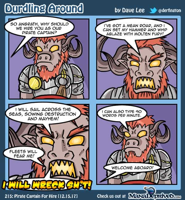 Durdling Around 215 – Pirate Captain For Hire