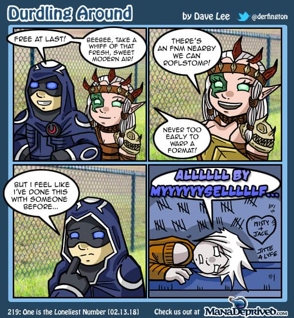 Durdling Around 219 – One is the Loneliest Number