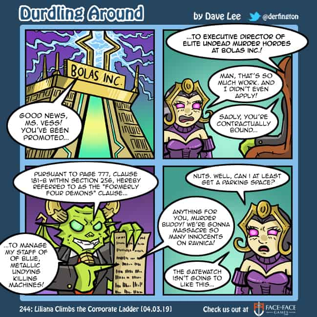 Durdling Around 244 – Liliana Climbs the Corporate Ladder