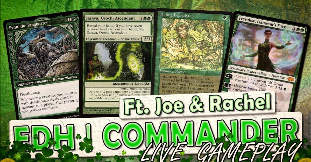 Wednesday Night Live St Paddy's Ft. Joe @I Hate Your Deck & Rachel Weeks | MTG Commander Gameplay