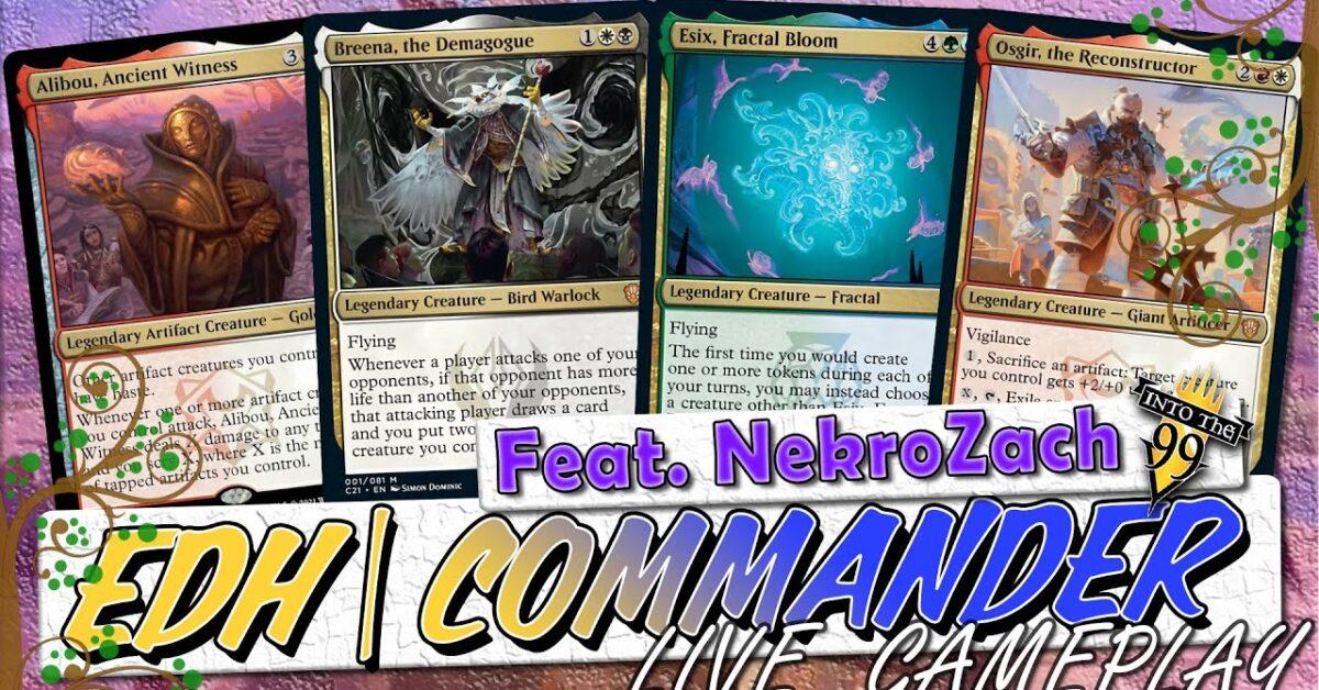 WNL 33 #Commander2021   Osgir vs Esix vs Breena vs Alibou   MTG Commander Gameplay