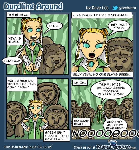 Durdling Around – Un-bear-able insult