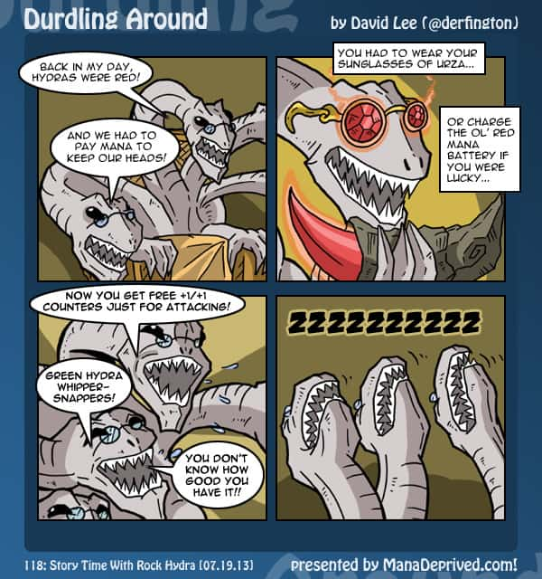 Durdling Around 118 – Story Time With Rock Hydra