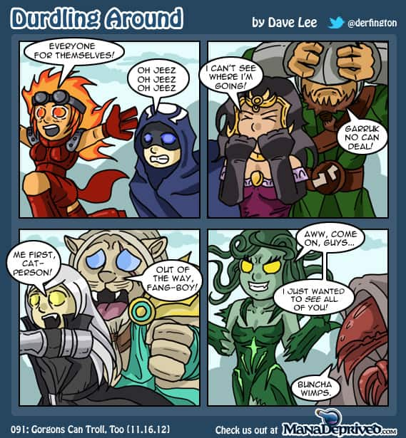 Durdling Around – Gorgons Can Troll, Too